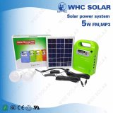 5W Gd-Lite DC Solar Energy Kit Sistema doméstico com 3 LED Light