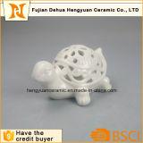 Tartaruga da porcelana de Whithe com projeto oco
