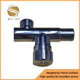 Válvula de ángulo de cobre amarillo modificada para requisitos particulares con el cromo plateado