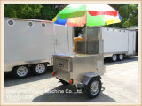 Ys-HD120A Carro de acero inoxidable Hot Dog Carritos móviles para alimentos