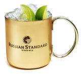Tasse de cuivre martelée pure de cadeau de baril de 16 onces 100% pour des mules de Moscou