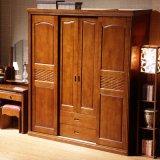 Gabinete de madeira contínuo do Armoire do Wardrobe da mobília do quarto (GSP9-016)