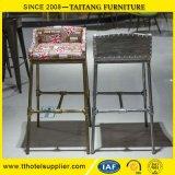 Industrielles Art-Metall Barstools/Stab-Stuhl mit bequemem Gewebe-Sitz