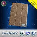 Panneaux chauds stratifiés de PVC de vente de cannelures en bois de la couleur deux