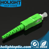 光ファイバコネクターのSca Sm 2.0mmの緑