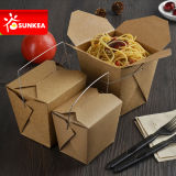 Изготовленный на заказ примите отсутствующий бумажный контейнер еды с ручкой/без ручки
