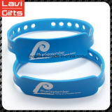 Bracelet fait sur commande coloré en caoutchouc de silicones avec le logo