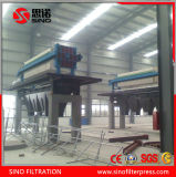 Filtre-presse hydraulique automatique à haute pression de membrane de pp pour l'exploitation