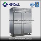 4 de Commerciële Ijskast van het Roestvrij staal van deuren voor Keuken