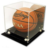 Caja de presentación de acrílico de encargo del balón del baloncesto/del balompié/de fútbol