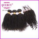 8A do Virgin humano real do Weave do cabelo do Virgin da classe 100% cabelo Curly Kinky