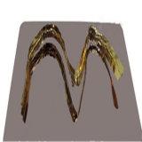 Bronzefarben-Edelstahl-Blatt-Haarstrichende AISI 304/AISI430