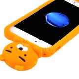 caja del teléfono del silicón del oso de la historieta 3D para la cubierta del teléfono móvil de Huawei P9lite P9plus J7prime J2prime (XS-G130)