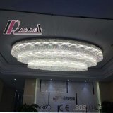 Nuevo diseño residencial LED lámpara de techo de cristal para el vestíbulo