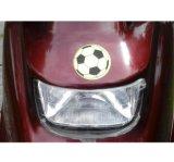 Weerspiegelende Sticker van de Veiligheid van het Patroon van de Voetbal van pvc de Populaire