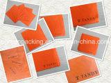 برتقاليّ [ميكروفيبر] يصقل قماش مع علامة تجاريّة أسود
