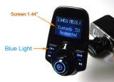 Visualizzazione senza fili Handsfree dell'affissione a cristalli liquidi del kit dell'automobile del modulatore del giocatore di MP3 del trasmettitore dell'insieme FM dell'automobile di Bluetooth FM con la porta di carico del USB