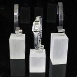Étalage acrylique clair givré neuf de montre pour l'étalage et les partie supérieure du comptoir de bijou