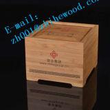 Caixa de madeira de bambu do Teabag do agregado familiar