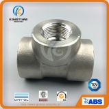 ASME B16.11のステンレス鋼の造られた高圧ソケットの溶接同輩のティーは造った付属品(KT0552)を