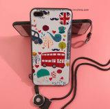 Maak Zacht Shell van het Beeldverhaal van het Silicone van de Stijl Geval voor het Gebruik van iPhone met het Hangen van Kabel in reliëf