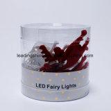 Lumières étoilées blanches chaudes d'intérieur de chaîne de caractères de lumières à piles blanches fraîches du wapiti 20 DEL