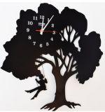 Klok van de Muur van de Decoratie van de Techniek van het Landschap van de boom de Vervaardigde