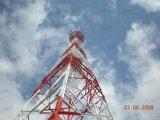 De vier-Legged Telecommunicatie van uitstekende kwaliteit voorzien de Hoekige Toren van het Staal van tralies