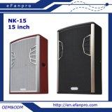 Nuevo diseño equipo audio del altavoz profesional de 15 pulgadas (NK-15)
