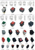 12V 24V 110V 250V Vert Rouge Bleu Jaune 6 Pin Water Proof Rocker Switch