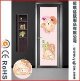 Pellicola di legno del PVC del grano di migliore qualità di prezzi di fabbrica della Cina per il portello