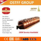 alambre de soldadura Cobre-Revestido de MIG del sólido del carrete plástico de 0.8m m X 15kg (G3Si1/SG2)