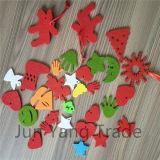 La Navidad Fingure de la decoración DIY del reno del fieltro del árbol del ángel de la estrella del fieltro