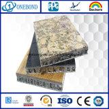Panneau composé de nid d'abeilles en pierre extérieur de granit pour le revêtement de mur