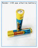 acumulador alcalino AAA Lr03 de la tarjeta 1.5V de la ampolla 4PCS