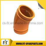 Pièces de rechange de pompe à béton Zoomlion Double tube de coude 36 ° C