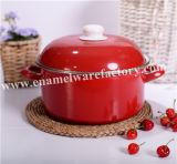 Cookware conservado em estoque redondo do potenciômetro do esmalte do fornecedor