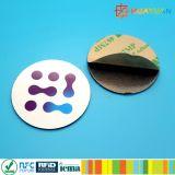 De zelfklevende Markering van het de spaander anti-Metaal NFC van pvc Ntag213 compatibele