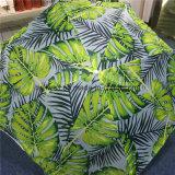 Parapluie de plage extérieur d'inclinaison d'impression fait sur commande multicolore de logo