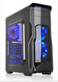 Zuivere Black ATX Computer Case met Colorful LED Switching