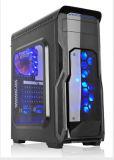 Reiner Computer-Kasten des Schwarz-ATX mit bunter LED-Schaltung