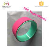 Exercise Product Foam Roller Blue Color TPE Yoga Wheel com tubo ABS