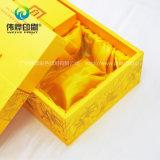 Mano de obra fina caja de embalaje de impresión, patrón decorativo, seda Textiles