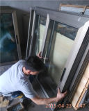 Aluminio que resbala la ventana doble del esmalte