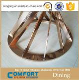 2017贅沢なステンレス鋼のダイニングテーブルは家具を設計する