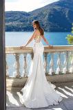 Верхняя часть Leonora отклоняет платья венчания Mermaid разнослоистые