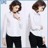Camicia lunga bianca del manicotto del cotone professionale di modo