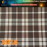Il filato all'ingrosso ha tinto il tessuto dell'indumento dell'assegno del poliestere (X015-17)