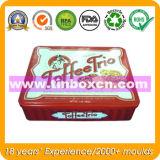 Zinn-Plätzchen-Kasten für das verpackende Nahrungsmittelzinn, Metallnahrungsmittelbehälter
