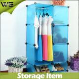 Wardrobes montados prontos plásticos do gabinete de armazenamento para o quarto